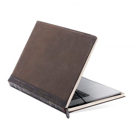TwelveSouth BookBook Genuine Leather Case for MacBook Pro 16 - Brown