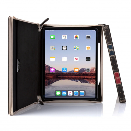 TwelveSouth BookBook Genuine Leather Case Vol. 2 for iPad Pro 12.9 (2020) - Brown