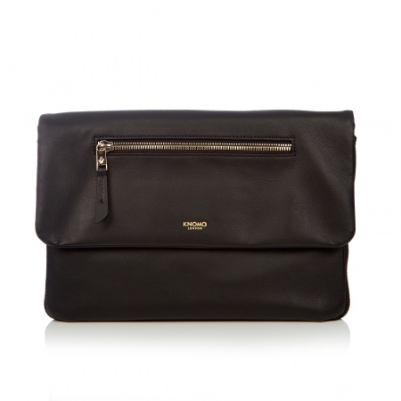 Knomo ELEKTRONISTA Leather Digital Clutch / Shoulder Bag - Black