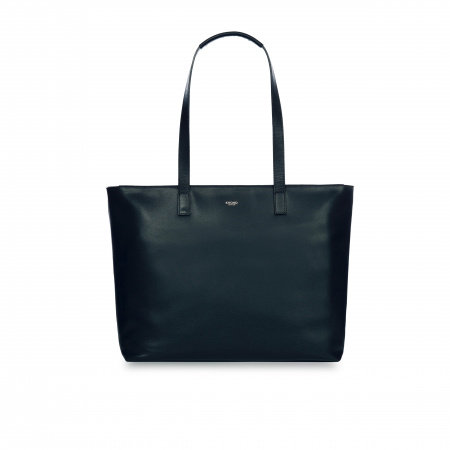 Knomo MADDOX LZip Top Tote 15-inch Full Grain Leather - BLAZER (Female)