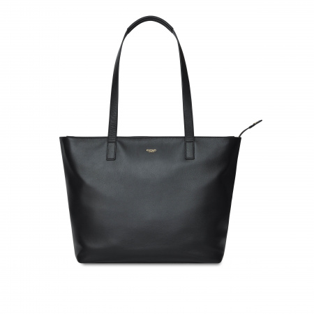 Knomo MADDOX MZip Top Tote 13-inch Full Grain Leather - BLACK (Female)