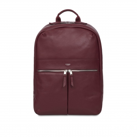 Knomo BEAUX Leather Backpack 14inch - Burgundy