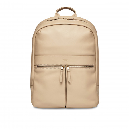 Knomo BEAUCHAMP L Backpack 14-inch Full Grain Leather - TRENCH BEIGE (Female)