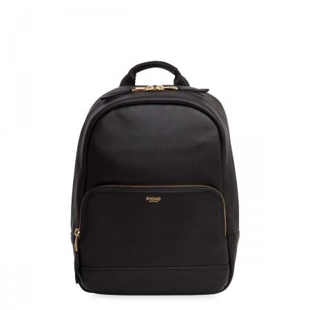 Knomo MINI MOUNT Leather Backpack 10inch - Black