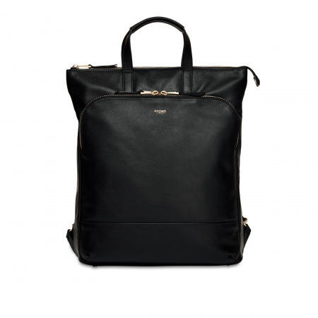 Knomo HAREWOODTotepack 15-inch Full Grain Leather - BLACK (Female)