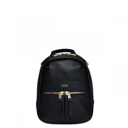 Knomo BEAUCHAMP XXS Backpack / X-Body Full Grain Leather - BLACK (Female)