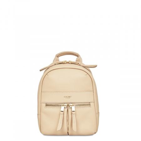Knomo BEAUCHAMP XXS Backpack / X-Body Full Grain Leather - TRENCH BEIGE (Female)