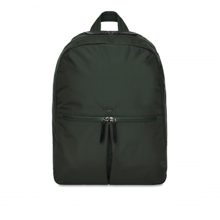 Knomo BERLIN Backpack 15-inch Polyester w Split Leather Trim - BOTTLE GREEN (Female)