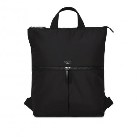 Knomo REYKJAVIKTotepack 15-inch Polyester w Split Leather Trim - BLACK (Female)