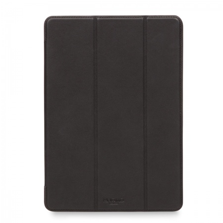 Knomo Tri-Fold Leather Folio Case for iPad 9.7inch (2017 / 2018) - Black