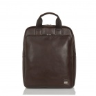 """Knomo BROMPTON Dale Tote 15"""" taška (s RFID vreckami) - Hnědá"""