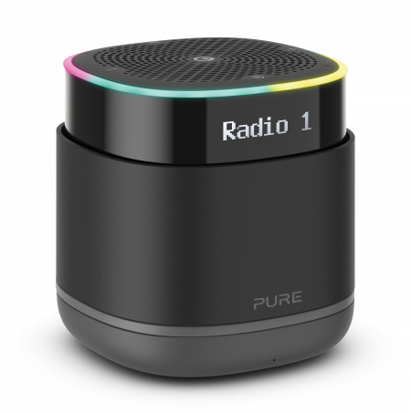 Pure StreamR Portable smart radio with Bluetooth and one-touch Alexa - Charcoal