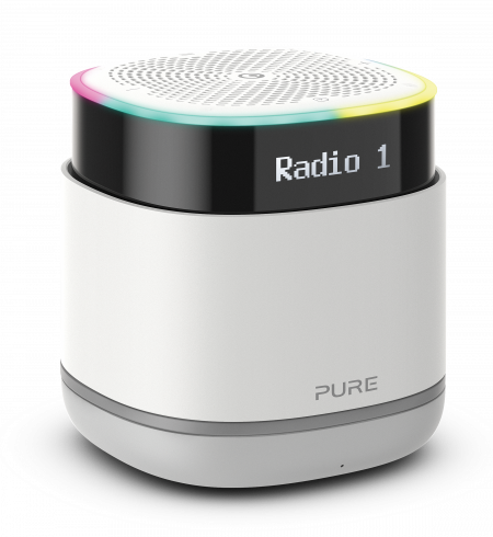 Pure StreamR Portable smart radio with Bluetooth and one-touch Alexa - Stone Grey