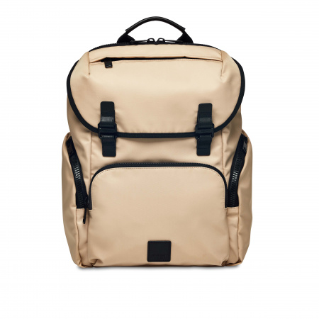 Knomo THURLOE Backpack 15-inch Nylon w Semi Veg Trim - TRENCH BEIGE (Male)