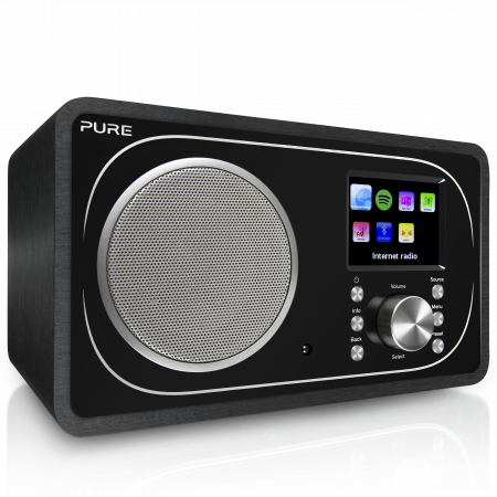 Pure Evoke F3 Internet radio with Bluetooth, Black