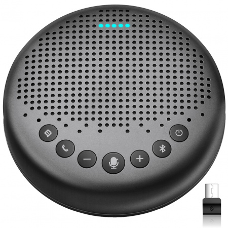 eMeet Luna Conference speaker One-click switch AI noise reduction mode - Grey