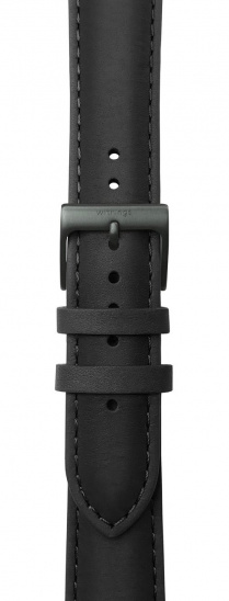 Withings Accessory Wristband for Steel HR 40mm, Stell HR Sport, Scanwatch 42mm - Black Leather
