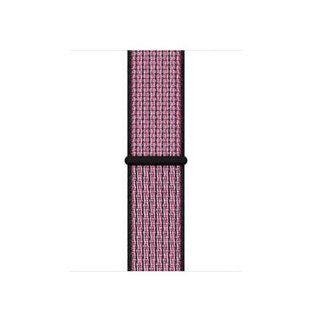 Apple Watch 40mm Nike Band: Pink Blast/True Berry Nike Sport Loop (DEMO) (Seasonal Autumn 2019)