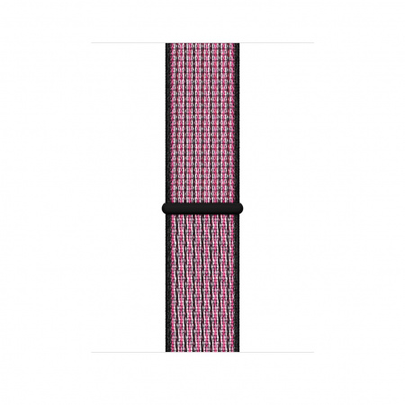 Apple Watch 44mm Nike Band: Pink Blast/True Berry Nike Sport Loop (DEMO) (Seasonal Autumn 2019)