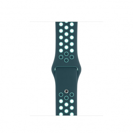 Apple Watch 40mm Nike Band:  Midnight Turquoise/Aurora Green Nike Sport Band - Regular (DEMO) (Seasonal Spring2020)