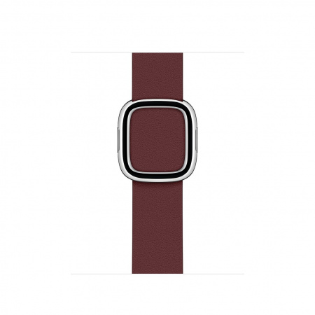 Apple Watch 40mm Band: Garnet Modern Buckle - Large (DEMO) (Seasonal Fall 2020)