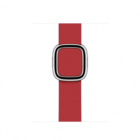 Apple Watch 40mm Band: Scarlet Modern Buckle - Medium (DEMO) (Seasonal Fall 2020)