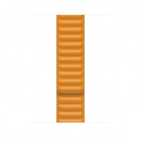 Apple Watch 44mm Band: California Poppy Leather Link - Small (DEMO) (Seasonal Fall 2020)