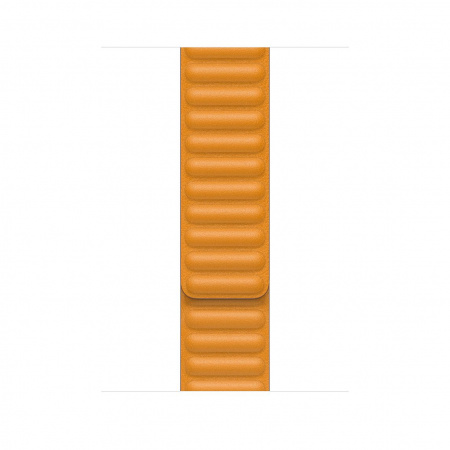 Apple Watch 44mm Band: California Poppy Leather Link - Large (DEMO) (Seasonal Fall 2020)