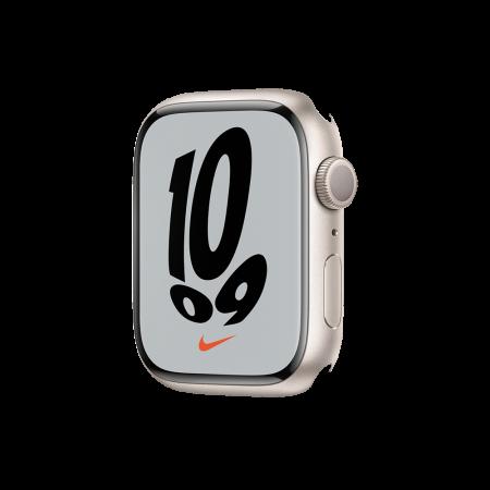 Apple Watch Nike S7 GPS, 45mm Starlight Aluminium Case Only (DEMO)