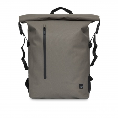 Knomo CROMWELL Water Resistant Roll Top Backpack 14inch - Khaki