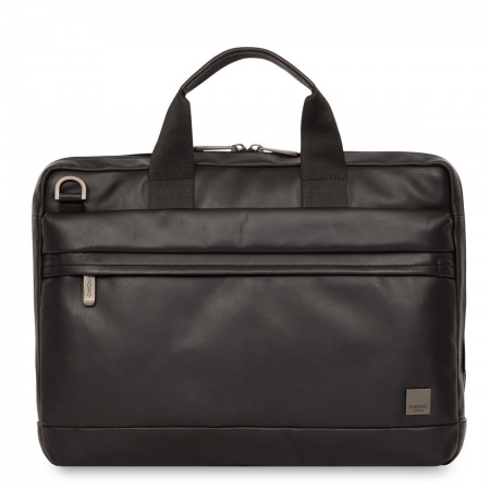Knomo FOSTER Leather Briefcase 14inch - Black
