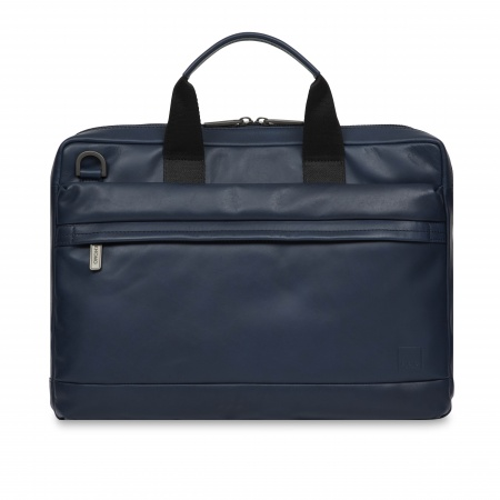 Knomo FOSTER Leather Briefcase 14inch - Phoenix Blue