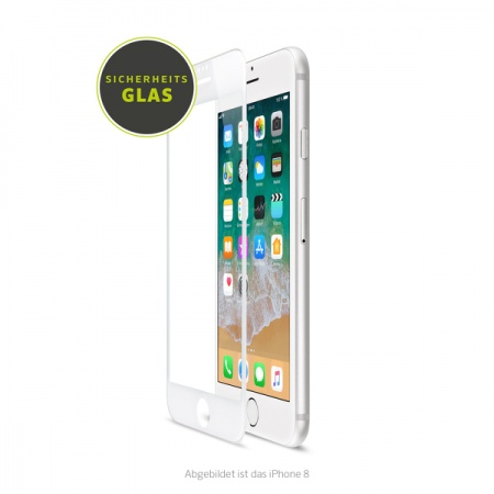 Artwizz CurvedDisplay for iPhone 6, 6s, 7 & 8 (Glass Protection) - White
