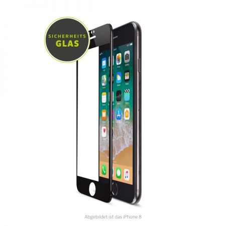 Artwizz CurvedDisplay for iPhone 6, 6s, 7 & 8 (Glass Protection) - Black