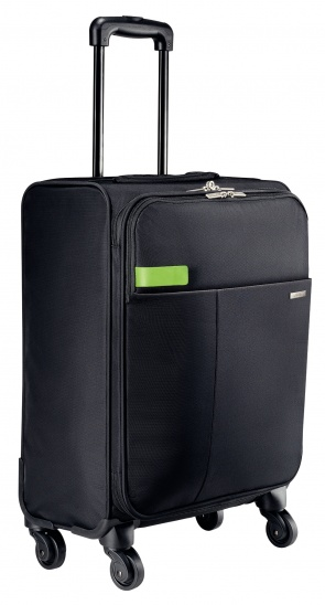 Leitz Complete 4-wheel Hand Luggage Trolley Smart Traveller  - Black