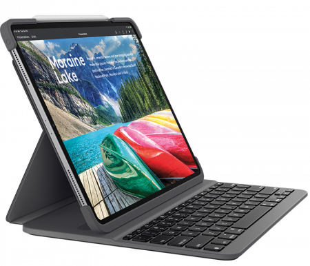 Logitech Slim FOLIO Backlit keyboard case w Bluetooth for iPad Pro 12.9inch (3rd GEN) - Black (UK)