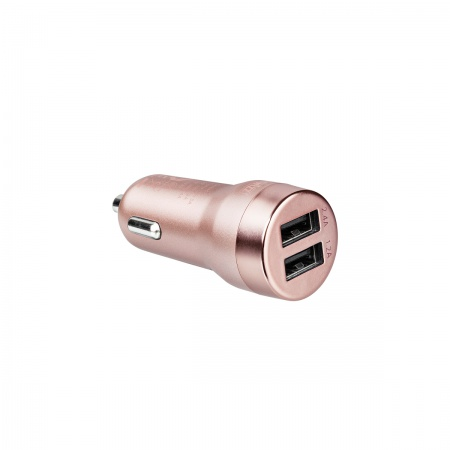 Artwizz CarPlug Double for Smartphones; Smartwatches and Tablets - Rose Gold
