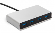 Moshi iLynx 3.0: 4-portový USB 3.0 hub - Stříbrná