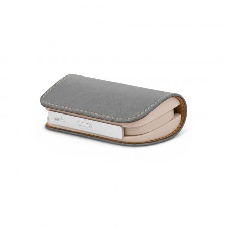 Moshi IonGo 5K Duo Lightning / USB-C 5,000 mAh / MFi - Fossil Gray