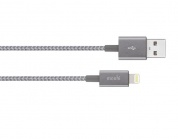 Moshi Integra USB-A Charge/Sync Cable with Lightning connector - Titanium Gray