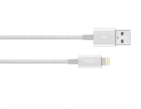 Moshi Integra USB-A Charge/Sync Cable with Lightning connector - Jet Silver