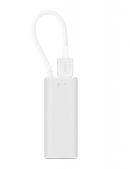 Moshi - USB 3.0 to Gigabit Ethernet Adapter- Silver