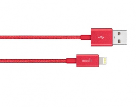 Moshi Integra USB-A Charge/Sync Cable with Lightning connector - Crimson Red