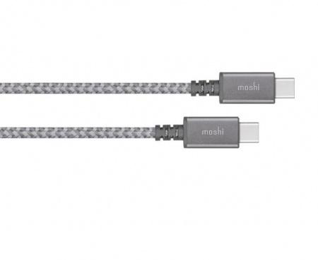 Moshi Integra USB-C to USB-C Charge/Sync Cable - Titanium Gray