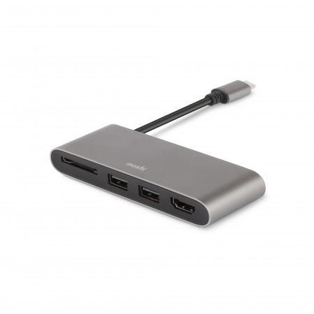 Moshi USB-C Multimedia Adapter - Titanium Gray