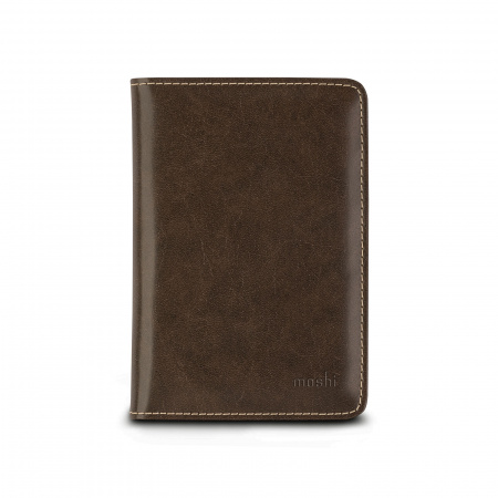 Moshi Passport Holder - Oak Brown