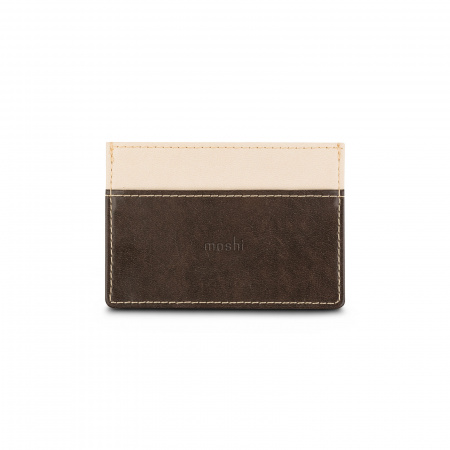 Moshi Slim Wallet - Oak Brown