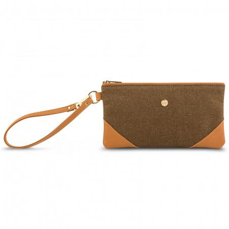 Moshi Wristlet clutch - Vintage Brown