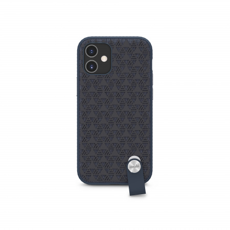 Moshi Altra slim case w detachable wrist strap for iPhone 12 mini (SnapToª) - Blue