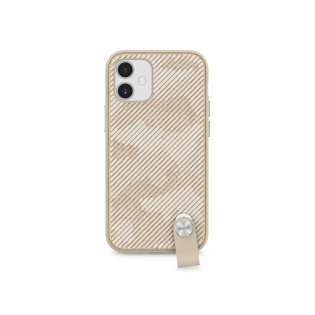 Moshi Altra slim case w detachable wrist strap for iPhone 12 mini (SnapToª) - Beige